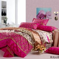 Promotion Sacrifice promotion 100% cotton hot sell 4pcs bed set/bedding sets duvet cover Bedding sheet bedspread pillowcase