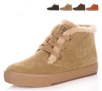2012 winter thermal plush women's boots cotton-padded lovers shoes