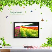 Free Shopping Romantic living room tv wall furnishings large sofa background wall