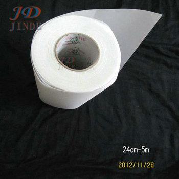 "Free shipping 24cmx5M/lot Hotfix 9.45""X16Feet Rhinestones Transfer Mylar Film Tape paper"