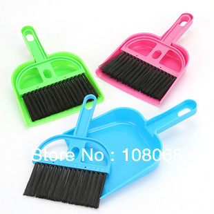 Mini brooms and dustpans set, Household brush and dustpan for desktop/keyboards/corners cleaning & sweeping(China (Mainland))