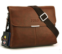 2013 high quality POLO Genuine leather horizontal men's messenger ,classical fashion shoulder bag,free shipping