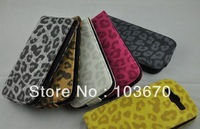 For Samsung S3 Case, Leopard PU Leather Skin Cover Flip Case for Samsung Galaxy S3 SIII i9300, Free Shipping 10pcs/lot