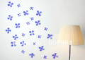 [funlife]-FUNLIFE Exclusive purple 12 x 3D PVC flower sticker Home Girl baby nursery decor Decal