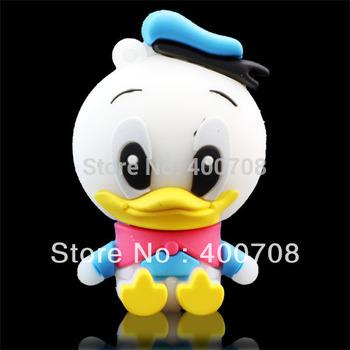 real 2GB 4GB 8GB 16GB 32GB Sweet Mini Duck Design Data Pen Drive Stick Thumb USB Flash Memory drive stick Udisk  10pcs/lot