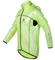 castelli Green 2012 cycling raincoat/Windbreaker, cycling rain jacket,transparent raincoat