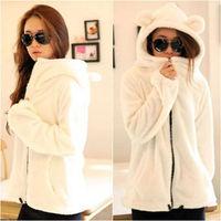 Женские толстовки и Кофты New Women's Long Sleeve Solid Color Casual Sport Sweat Suit Sweatshirt Sportswear Hooded Hoodie Size S New 0757