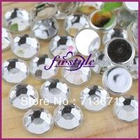 Free Shipping! 5,000pcs/Lot, 7mm Good Quality Crystal Clear  Non-hotfix / Glue on Flat Back Acrylic  Rhinestones
