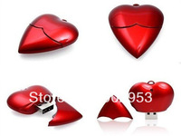 Cute lovely red heart usb flash drives wholesales 2gb 4gb 8gb 16gb usb flash driver usb memory sticks