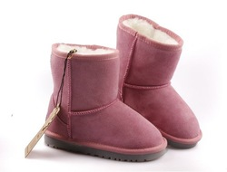 2012 Cowhide snow boots parent-child family shoes child / kids / baby winter warm boots(China (Mainland))