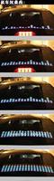 [Seven Neon]12V 4 Colors Sound Music Activated Car Window EL LED Light Lamp Sticker 70x16 CM Multi-Color