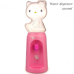 Free shipping, ABS 2.5 liter Mini drinking fountain no power hello kitty water dispenser 8 glasses Drink Soda Juice dispenser(China (Mainland))