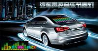 [Seven Neon]Free shipping 70CM*16CM Car Music Rhythm Lamp Led Sound Effect Activated Equalizer Car Panel LED Decoration Led