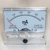 1pcs New 500mA DC AMP Analog Current Panel Meter Ammeter 0-500mA 2014