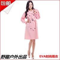 Fashion adult raincoat poncho trench eva material rain coat for women free shipping