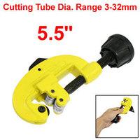 "1/8""-1 5/16"" Cutting Swivel Knob Tubing Pipe Cutter Hand Tool Yellow 5.5"""