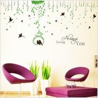Wall sticker Parlour bedroom decoration Sofa TV background lovers bird