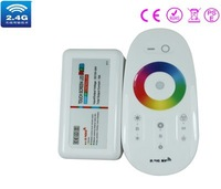 2.4G RGB touching remote controller,DC12/24V ,20 automatical changing modes,control distance 20-30m CE ROHS