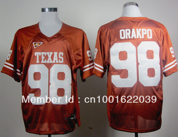 mix order Texas Longhorns Brian Orakpo 98 Burnt Orange College Football sz48-56