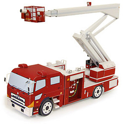 Min.order $19(mixed support) Transport vehicle - ladder car 3D puzzle DIY paper model Educational Toy(China (Mainland))