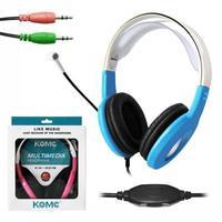 Komc km 2013 earphones speaker headset earphones computer earphones