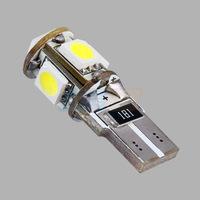 10pcs  T10 5 SMD Pure White CANBUS Error Free Interior Car W5W 5 LED Light Bulb Lamp 194/501