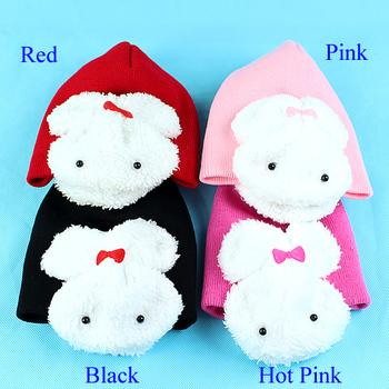 D19+Free Shipping 4 Color Baby Hat Cute Cartoon Rabbit Cotton Infant Cap Kids Hats