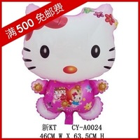 Min.order $19(mixed support) Christmas cute balloon 3   leather aluminum  cartoon style   kt cat pink free shipping