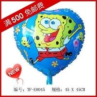 Min.order $19(mixed support) Christmas cute balloon Balloon cartoon graphic patterns   - heart sponge free shipping
