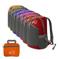 Eco-friendly lightweighting 22l hiking backpack double-shoulder folding bag