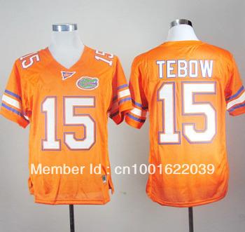 mix order Florida Gators Tim Tebow 15 Orange College Football sz48-56