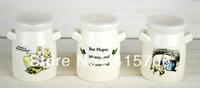 3pcs/set  zakka cute ceramic cup with lid