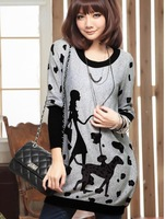 autumn and winter NEW Fashion trendy Cozy women ladies Noble clothes Tops Tees T shirt Long-sleeved xxxl