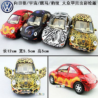 4 soft world kinsmart vw beetle colored drawing edition alloy car model toy car