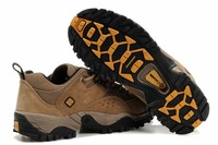 leather thick warm man leisure trekking cross-country running shoes