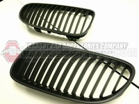 10-12 E92 E93 LCI 2 DOOR MATTE BLACK FRONT HOOD KIDNEY GRILLE 320i 323i 325i (Brand new, no MOQ, In stock, Free shipping)