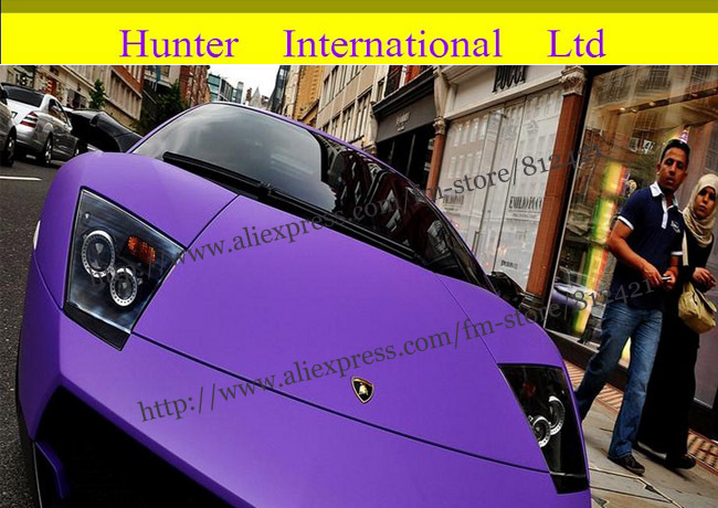 Popualr color purple Good quality free shipping 1.52*30M glossy gold car wrap vinyl with air free bubble(China (Mainland))