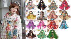 Hot Sale 15 color Women cotton Scarf Wraps Shawl Stole Soft Scarve Flower Super Buy 10pcs get 1 free(China (Mainland))