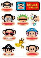MinOrder$19.99 Stickers cute monkey  cartoon big travel bag car  waterproof white asian film,one color, CPAM