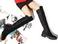 New Leather Knee High Boots flat boots snow boots