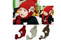 Free Shipping 10 PCS New Popular Baby Autumn Winter Cap Protect Ear ap Girl's Knitting Hat Boy's Cap