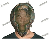 tactical Airsoft Mask netted full face Mask Digital jungle multicam