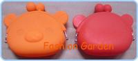 Pig design Cute Lady/Girl/Women Silicone Coin Purses designer coin purse