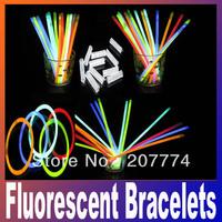 christmas gift celebration festivities ceremony fluorescent bracelets,night glow sticks,LED toys for olympic games,free shipping