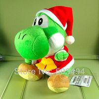 Super Mario Brothers YOSHI Xmas Plush Doll Figure Toy 8 inch Christmas yoshi Green