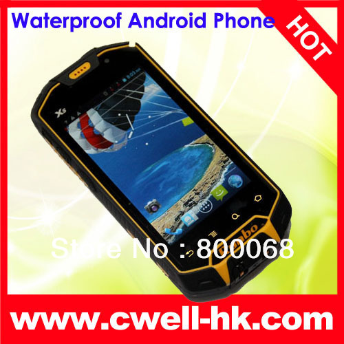 Military Grade MTK6577 Waterproof Android Mobile Phone with Walkie Talkie Runbo X5 NEW VERISON(China (Mainland))