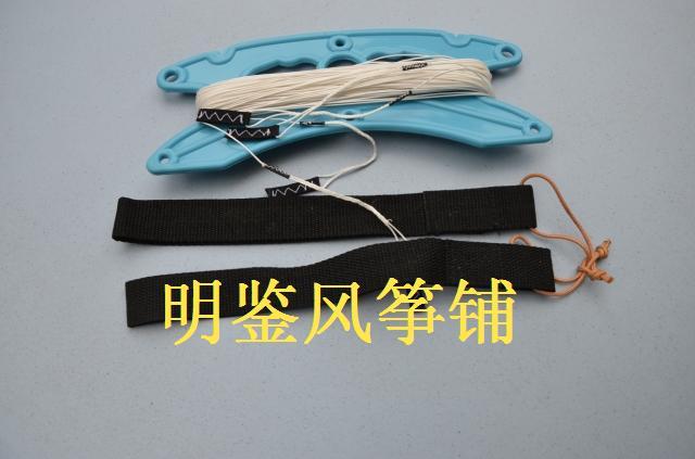 2x25 meters 330 dyneema kite line +hand strap(China (Mainland))
