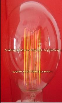 GOOD!220V 40W E27 G95X140 yellow feet clear light lamp Edison bulb AD020