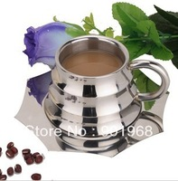 24pcs/lot double walls stainless steel coffee cup-tea cup-milk cup