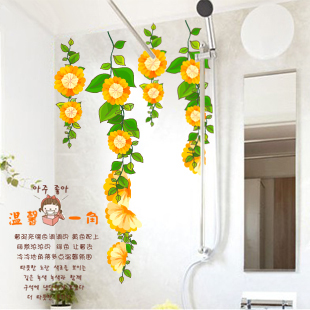 Card glass cabinet guanchong waistline wall stickers local decoration(China (Mainland))